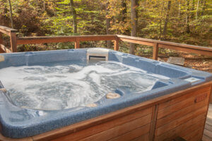 Vacation Lodges in WV | Outdoor Hot Tub