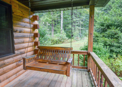 Cougar Cabin - Porch Swing